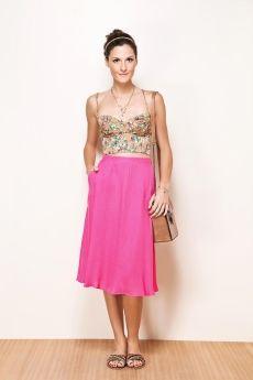 ADOROFARM!  pink skirt + top cropped
