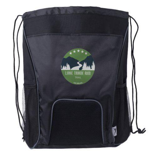 Lake Tahoe Drawstring Backpack
