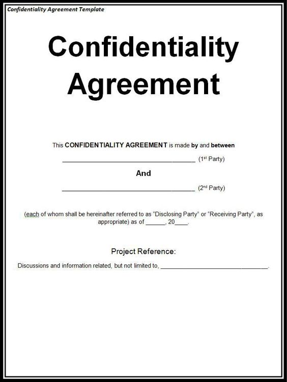 NonDisclosure Agreement Nda Template  Technology