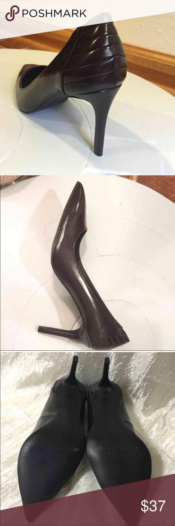 STEVE MADDEN PUMPER PUMPS Chocolate brown pointed toe 4in heel pumps. So classy, comfortable, and professional!!!! Smoke free home! Great deal! So pretty and stylish!!! This is a beautiful piece you can wear anywhere, school, work, office, interview, party, or casual!   Feel free to make an offer and check out my other items for bundling products for a better deal!!! Steve Madden Shoes Heels