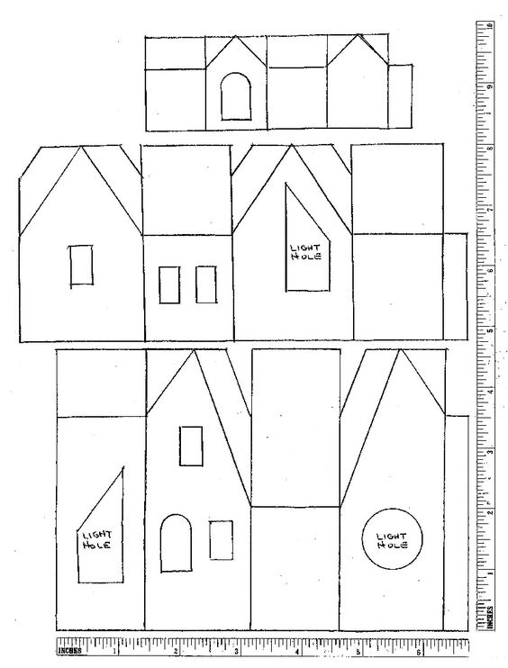 October glitter houses plans crafty schtuff glitter for House pattern
