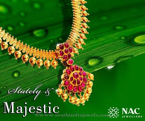 Nac Jewellers Marriage Necklace Design South India Jewels Necklace Designs Gold Jewelry Indian Traditional Jewelry