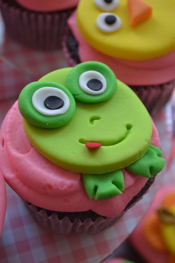 Froggy Cupcake topper