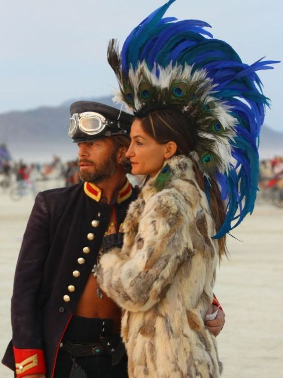 burning man wedding 2013 | visit planetbibi com  this headdress is amazing!