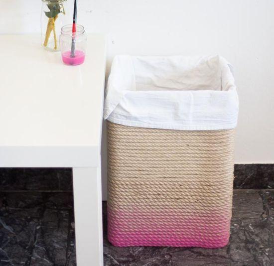 Aprenda a seguir como fazer um cesto de roupa suja reciclado passo a passo, para economizar um pouco no momento de redecorar os seus ...: