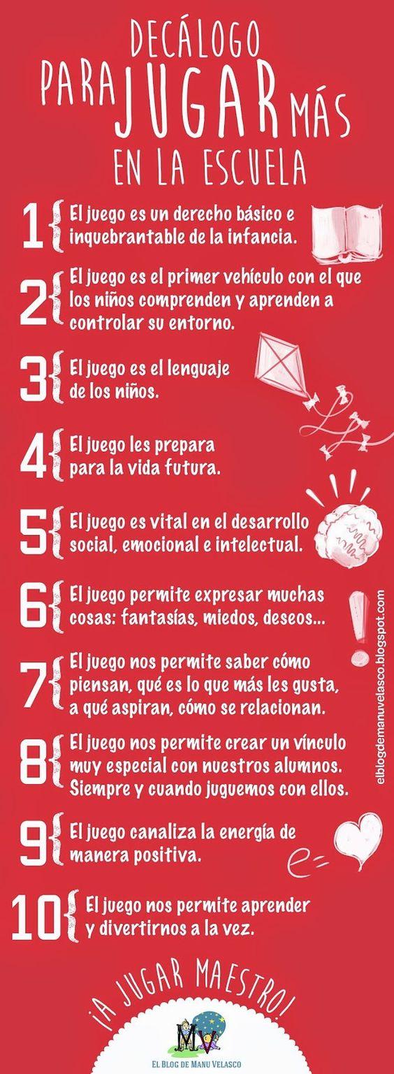 Decálogo para jugar más en la escuela #BienestarInfantil