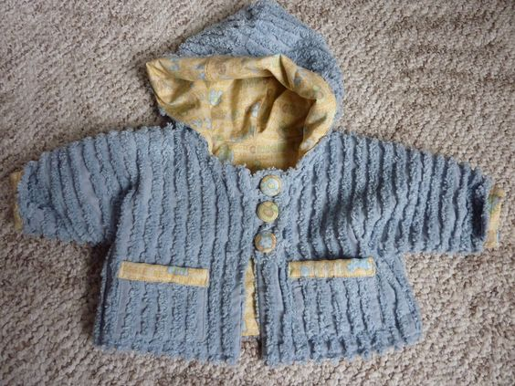 Blue Chenille Baby Jacket