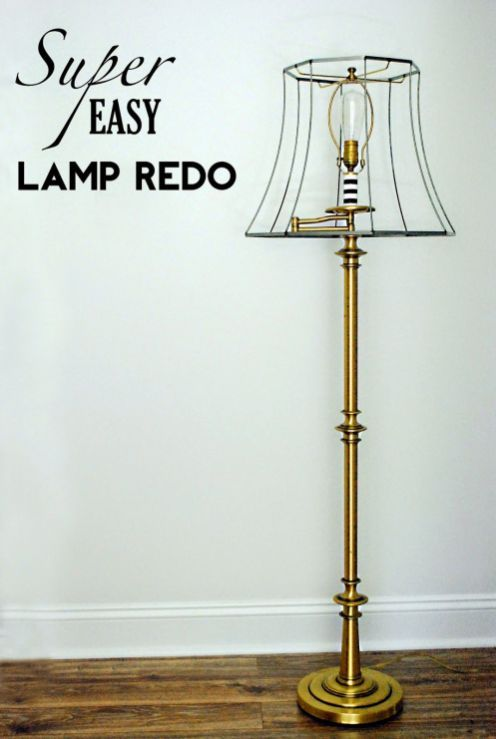 Lamp Makeover 43 Lamp Redo Lamp Makeover Floor Lamp Makeover