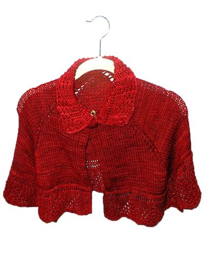 Red Cape Knitting Pattern : Girls Christmas Cape Knitting Pattern Download from e-PatternsCentral.co...