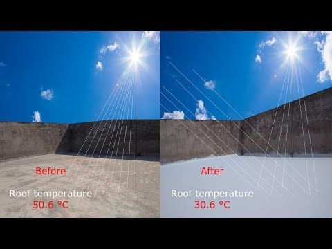 Simple Cheap Safe And Effective Solution Please Try And Share With Others The Cool Roof Coating Is To Reflect More Sunlight Cool Roof Roof Coating Roof