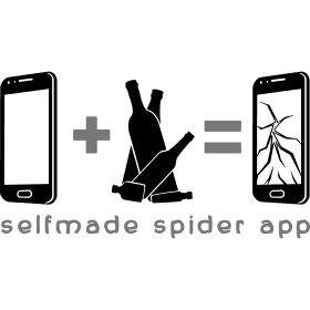 selfmade spider app - Die Spider-App zum nachmachen. Ein Smartphone und viel Alkohol l�sst den Touchscreen in viele Teile zerbersten.
