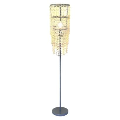Beaded Floor Lamps: Xhilaration® Chandelier Floor Lamp from Target, 40$. (Clear teardrop beads,,Lighting