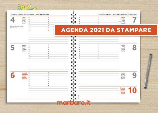 Agenda 2021 Settimanale Stampabile Nel 2020 Stampabile Agenda Settimanale Agenda Settimanale Stampabile