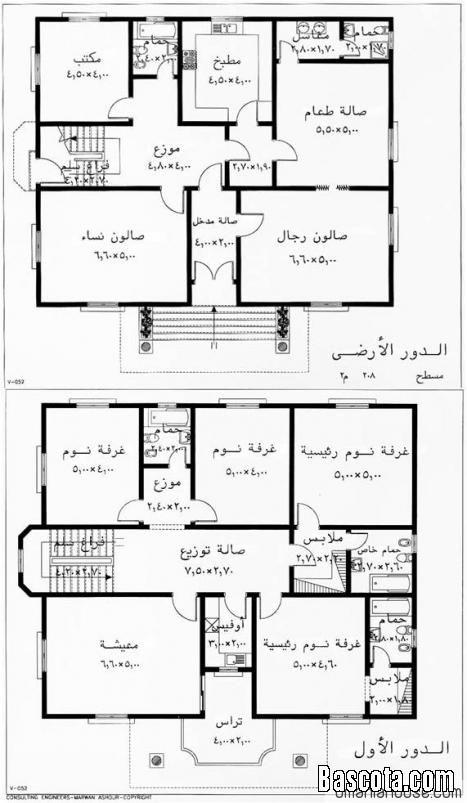 خرائط منازل ليبية اجمل جديد House Layout Plans Square House Plans Model House Plan