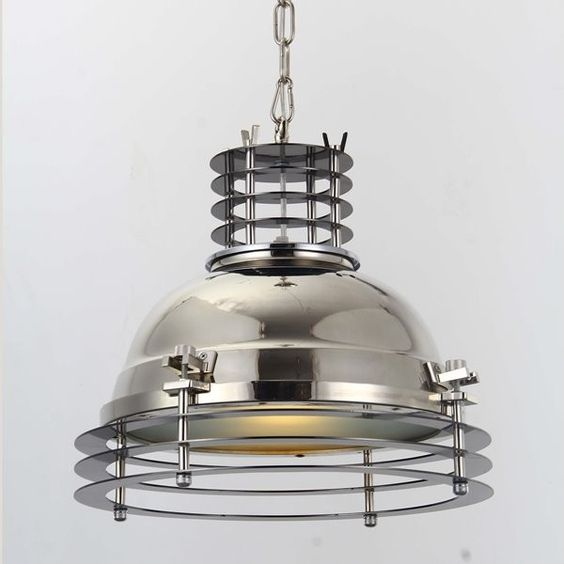 Hängelampe Factory Classic Industrial - chrome pendant industrial style