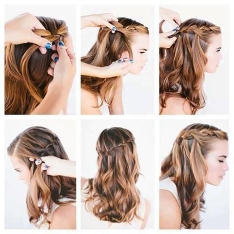 Astounding Hairstyles Easy Hairstyles And Waterfalls On Pinterest Hairstyles For Women Draintrainus