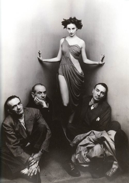 Ballet Society by Irving Penn, 1948 Ballenchine on the right