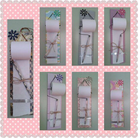 Anotações de geladeira com bobina e caneta decorada!