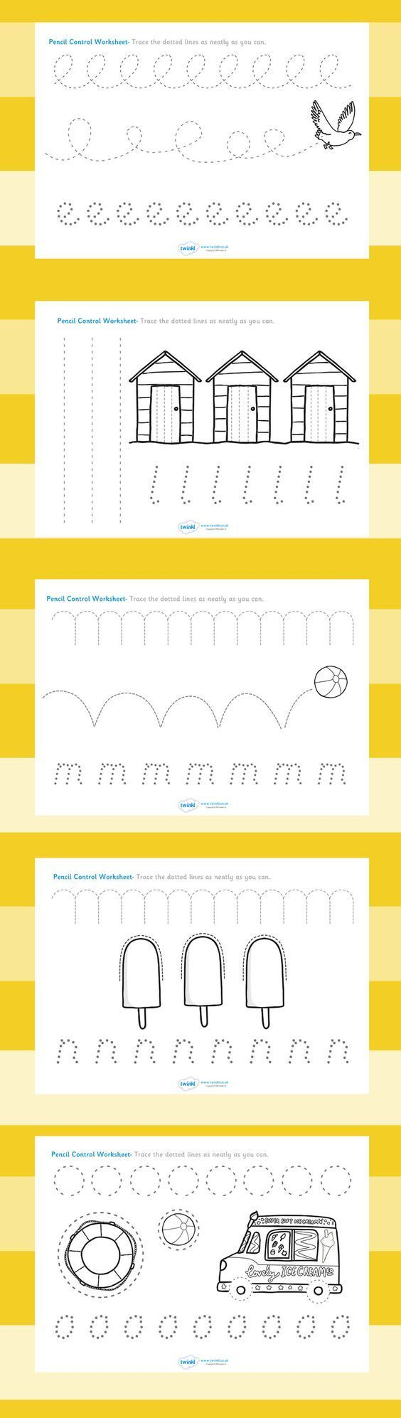 Workbooks letting go of control worksheets : My Kids LOVE these! Free Pencil Control Worksheets! Perfect for ...