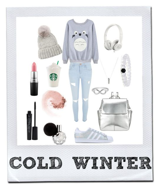 """""""COLD WINTER"""" by jazzypacman ❤ liked on Polyvore featuring adidas Originals, MAC Cosmetics, Maria Francesca Pepe, River Island, Kin by John Lewis, Eugenia Kim, NARS Cosmetics, Jewel Exclusive and Smashbox"""
