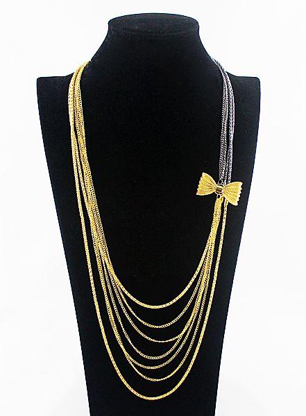 Collar largo cadenas con lazo 7.48: