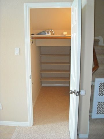 Shelves In Closet Under Stairs : Shelves Under Stairs I Wonder If This Is  Possible Under