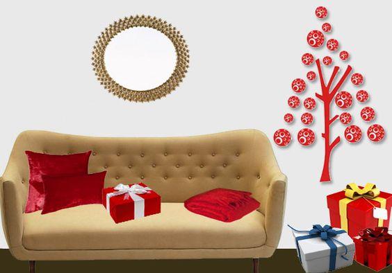 Autocolantes em vinil. Tema: Trendy Tree! Existe em 3 cores: vermelho, dourado e verde. 20,90€