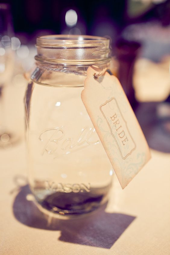 mason jar water holders
