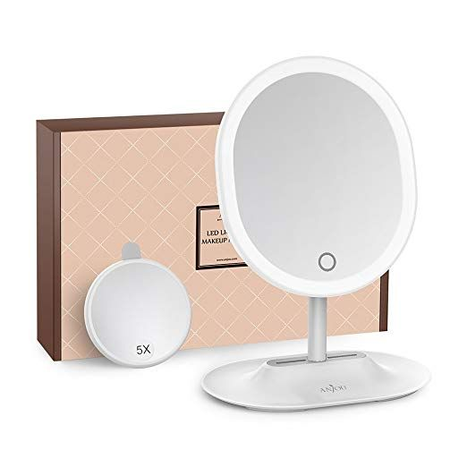 Makeup Mirror Rechargeable Led Lighted With 1x 5 X Magnification
