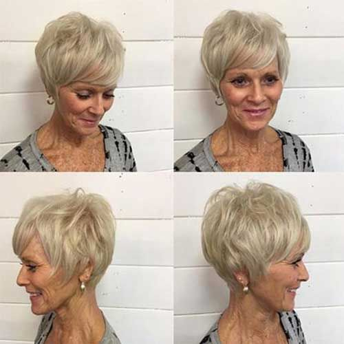 Modern Short Hairstyle Thin Hair Short Hairstyles For Older Women With Thin Hair Modern Short Hairstyles Short Hairdos Older Women Hairstyles