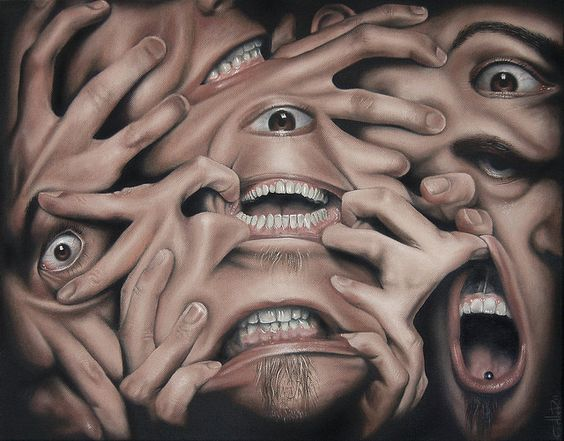 Christian Edler's Self Portraits Show the Artist At Odds with Himself | Hi-Fructose Magazine