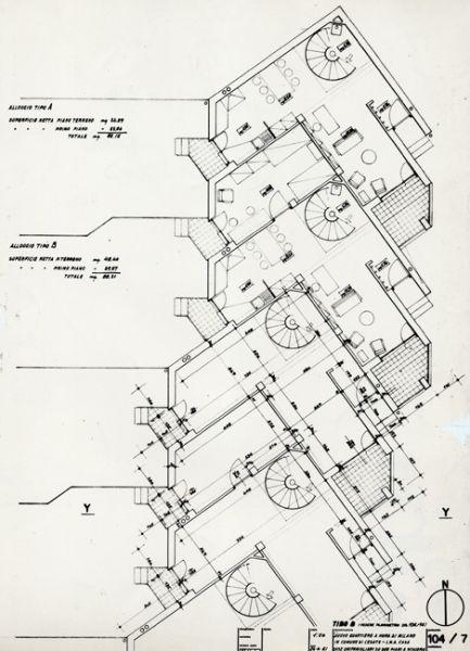 Quartiere Ina Casa a Cesate - Franco Albini e Milano - itineraries - Ordine degli architetti, P.P.C della provincia di Milano