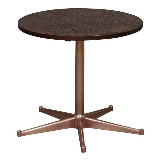 1970s Mid Century Modern Round Copper Side Table Copper Side Table Table Midcentury Modern
