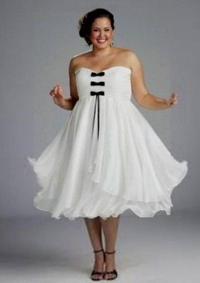 vestidos de novia sencillos para boda civil para gorditas