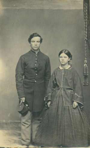 Unidentified Union soldier and woman. Photograph by Leroy Gates (1861 to 1865). Missouri History Museum