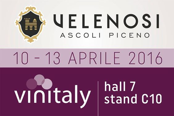 VINITALY: VELENOSI VINI presente! Un appuntamento annuale a cui non possiamo mancare! Dal 10 al 13 Aprile saremo a Verona per la 50^ edizione di VINITALY, salone internazionale dei vini e distillati.  Vieni a trovarci alla Hall 7, stand C10. - VINITALY: VELENOSI VINI is there! An annual event we couldn't miss! From 10th to 13th of April we'll be in Verona for the 50th edition of VINITALY, international wine & spirits exhibition. Join us at Hall 7, stand C10. ‪#‎WorldWine‬ ‪#‎vinipiceni‬ ‪