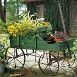Amish Wagon Decorative Garden Decor