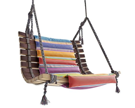 Swing chair by angela missoni swing chairs kids swing for Macrame swing chair