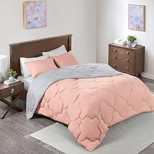 Juego De Edredón Mini Reversible Vixie De Comfort Spaces Coral Gris Full Queen Comfort Spaces In 2020 Comforter Sets Girl Crib Bedding Sets Luxury Bed Sheets