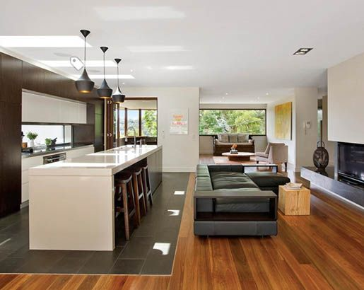 22 Floor Transition Ideas House Flooring Wood Tiles Design Kitchen Flooring