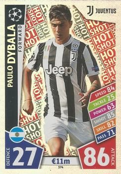 2017 18 Topps Uefa Champions League Match Attax 374 Paulo Dybala Front In 2020 Match Attax Trading Cards Juventus