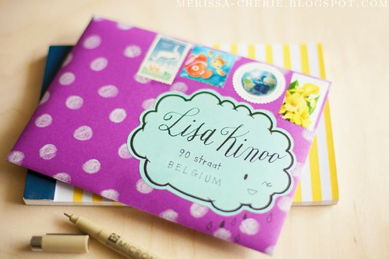 The Happy Mail Project | No. 6 | To Lisa K. in Belgium