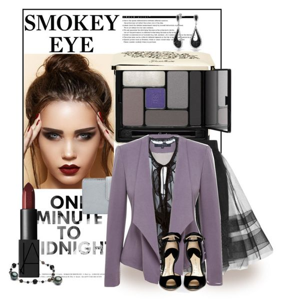 """""""Smokey eye"""" by irina211 ❤ liked on Polyvore featuring beauty, Arche, Bling Jewelry, Guerlain, NARS Cosmetics, FOSSIL, Milly, Viyella, Dolce&Gabbana and Paul Andrew"""