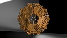 Icosahedron truncated - STEP / IGES,STL - 3D CAD model - GrabCAD