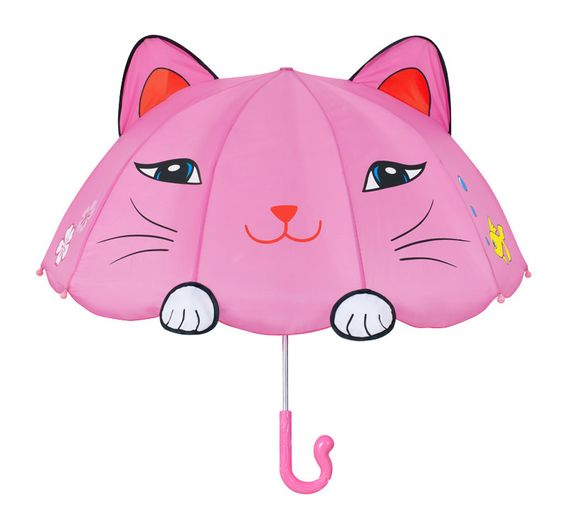 Kid's Pink Lucky Kitty Umbrella By Kidorable (http://www.dllrainwear.com/kidorable-kids-pink-lucky-kitty-umbrella/)