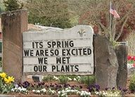hahaha ITS SPRING - WE ARE SO EXCITED WE WET OUR PLANTS I think I need to creat this for our yard!