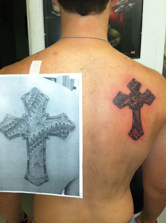 Crosses baseball cross and baseball on pinterest for Tattoo charlie s preston hwy louisville ky