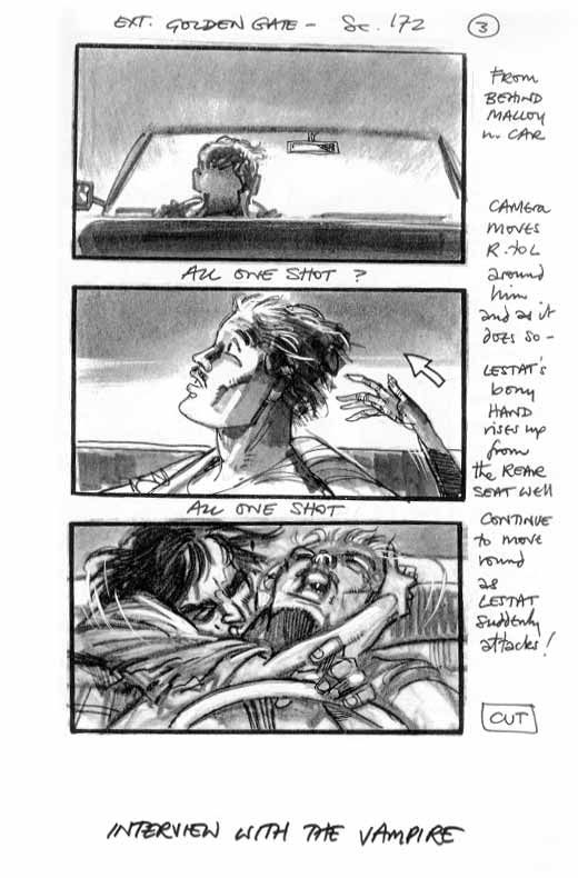Original storyboard that continues the monster chase, but this - what is storyboard