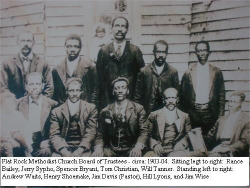 Flat Rock, Ga.   Reverend Bryant's  grandfather Spencer Bryant (1864-1946) was a trustee in Flat Rock Methodist Church. His father, T.A. Bryant, Sr. (1894-1987), was also a trustee, as well as a high-ranking Wishful Master in the Masonic Lodge.  Bryant's father, also named T.A. Bryant, bought 45 acres of land for $600, selling off small pieces to his relatives and other blacks who were willing to remain.