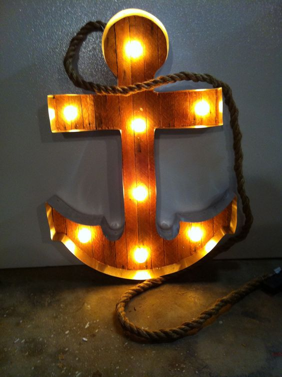 Anchor Marquee Light: Anchors Aweigh, Anchors My Obsession, Coppersmithdesigns Anchor, Heart Anchors, Night Lights, Marquee Lights, Lights Scott, Lighted Anchor, Anchors Navy Stuff